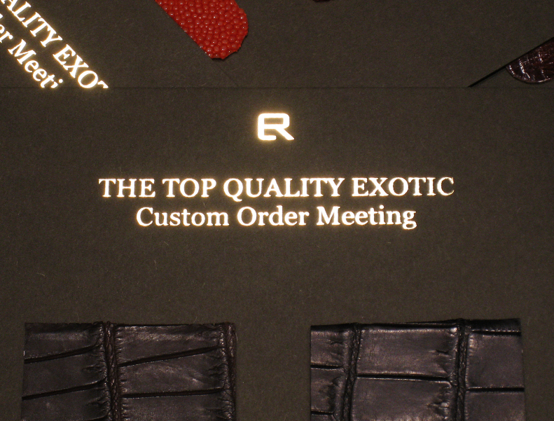 THE TOP QUALITY EXOTIC CUSTOM ORDER MEETING