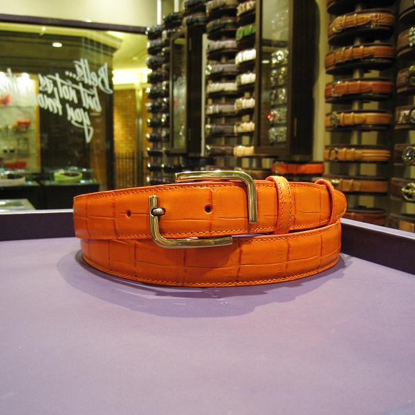 エリオットローズロンドン メンズ ベルト 30m オレンジ