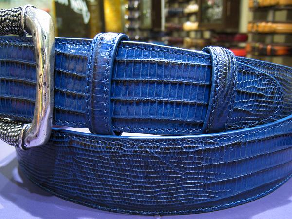 エリオットローズロンドン メンズ ベルト ブルー 2