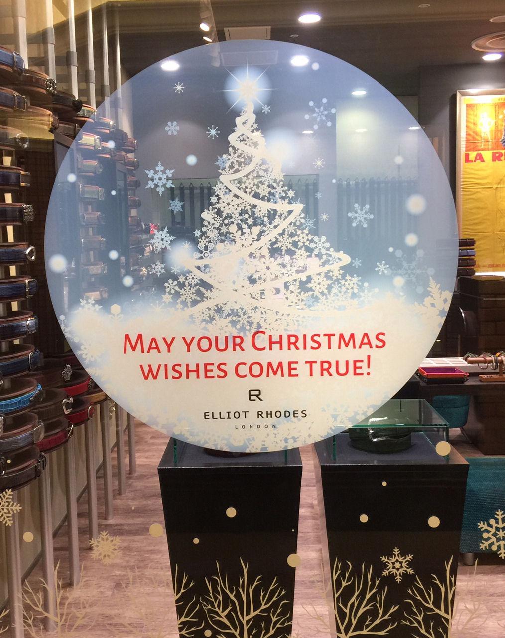 エリオットローズロンドン クリスマスディスプレイ