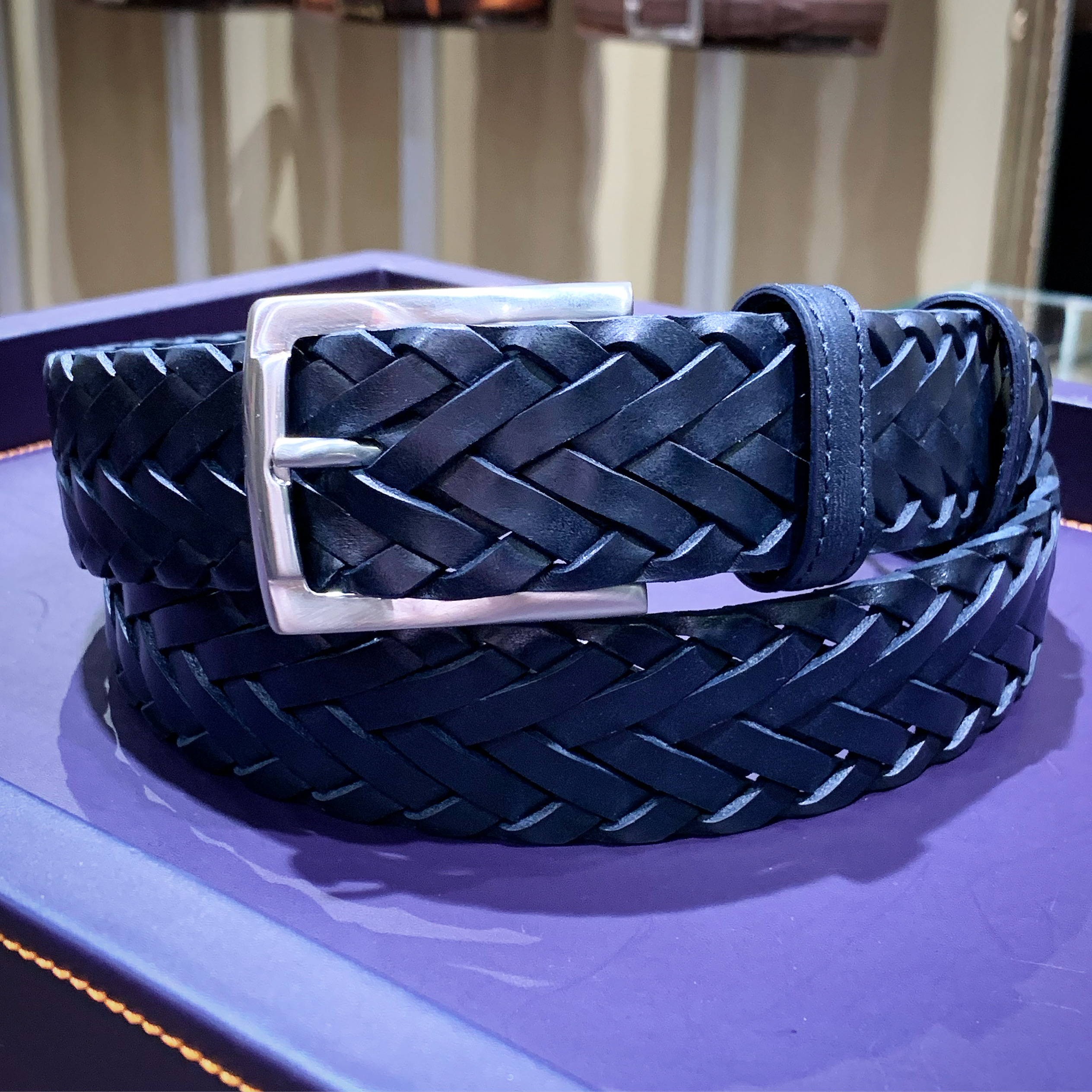 CONNERY HANDWEAVE NAVY35mm